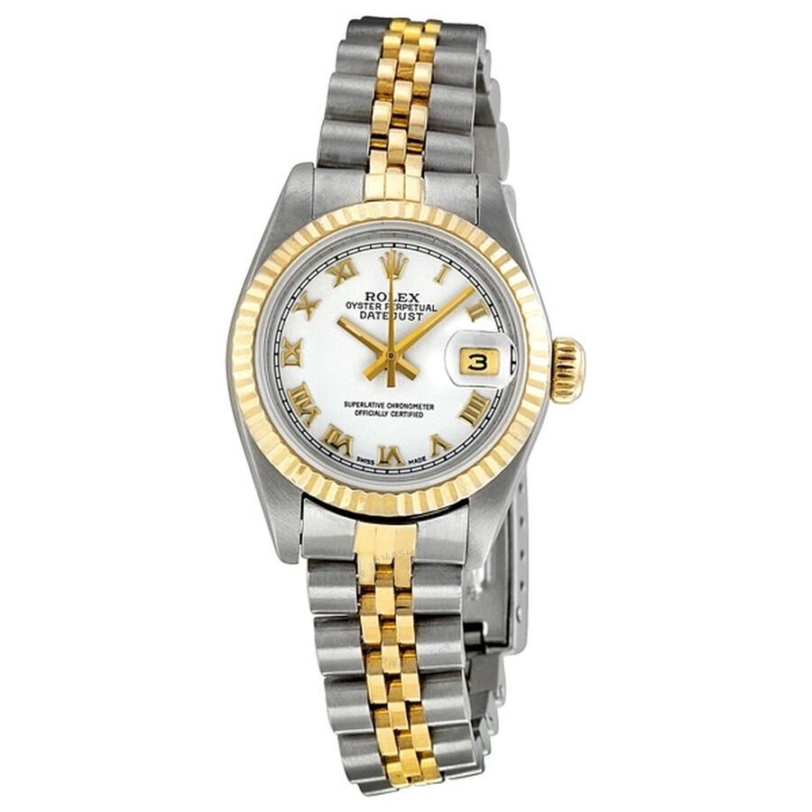 Pre-owned Rolex Datejust White Dial Jubilee Bracelet Ladies Watch 69173WRJ