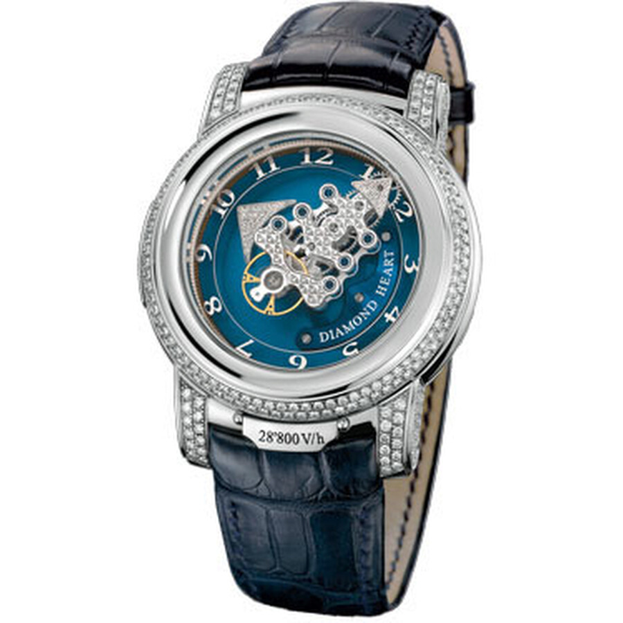 Ulysse Nardin Freak 28'800 V/h Diamond Heart Blue Set With Diamonds Dial Lea..