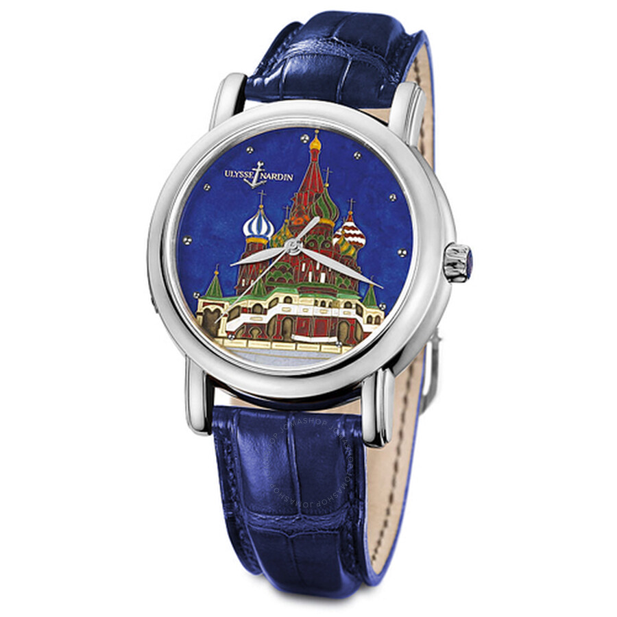 Ulysse Nardin Kremlin Automatic Blue Dial Blue Leather Mens Watch 139-10/KRE..