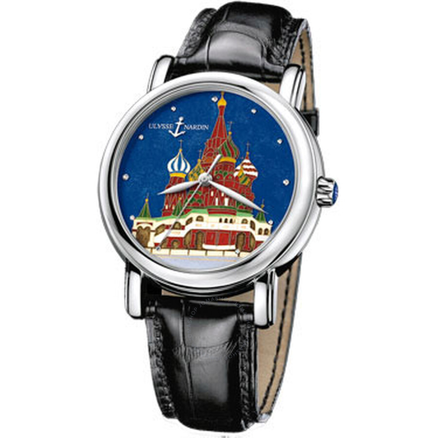 Ulysse Nardin Kremlin Enamel Cloisonne Dial Leather Mens Watch 139-10-KREM