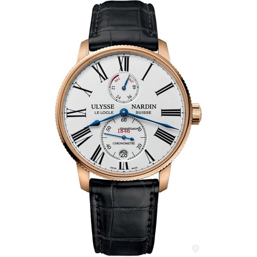 Ulysse Nardin Marine Chronometer Torpilleur Automatic White Dial Mens Watch ..