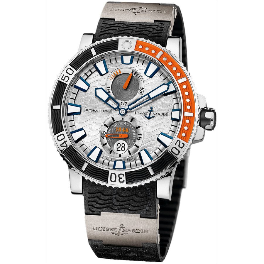Ulysse Nardin Marine Diver Silver Dial Automatic Mens Luxury Watch 263-90-3/91