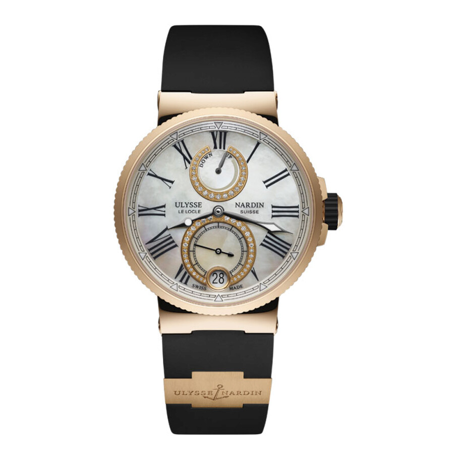 Ulysse Nardin Marine White Mother of Pearl Dial Automatic Ladies Watch 1182-..