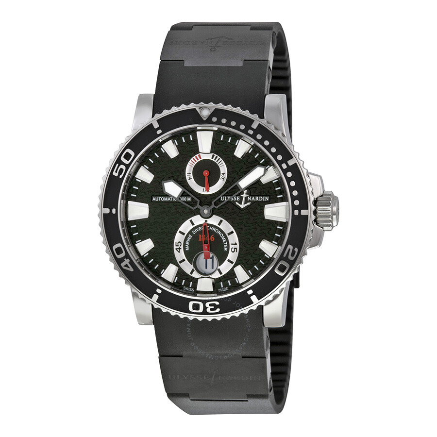 Ulysse Nardin Maxi Marine Diver Black Dial Men's Watch 263 ...