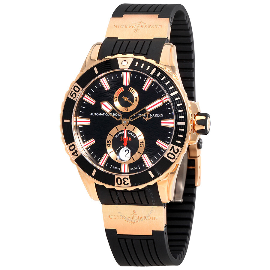 Ulysse Nardin Maxi Marine Diver Black Dial With Wave ...