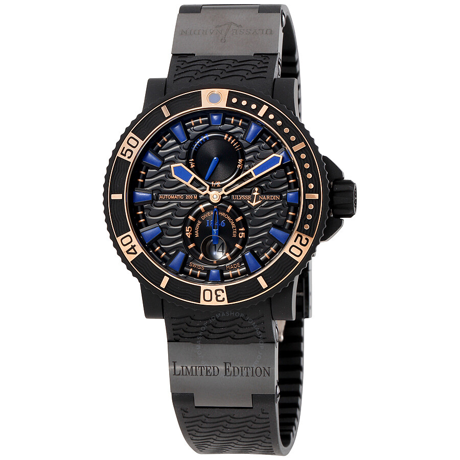 Ulysse Nardin Maxi Marine Diver Black Seal Automatic Mens Watch 263-92LE-3C-923-RG