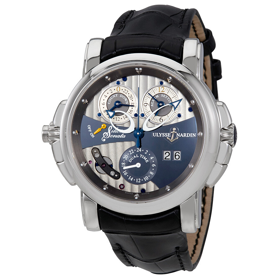 Ulysse Nardin Sonata Silicium Grey Dial Automatic Mens GMT Watch 670-85
