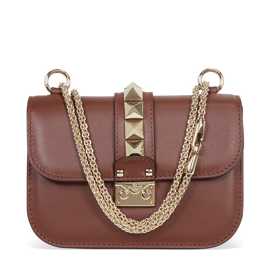 Valentino Leather Cross Body Bag - Brown