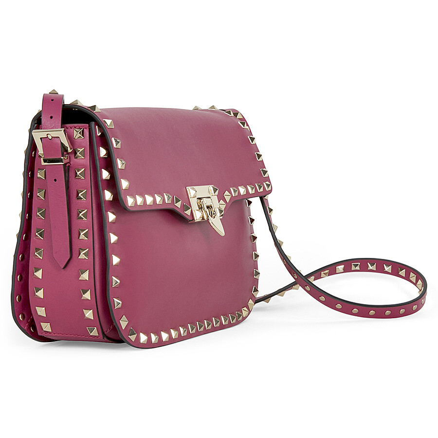 Light pink Rockstud cross-body bag Valentino WAWptbsm