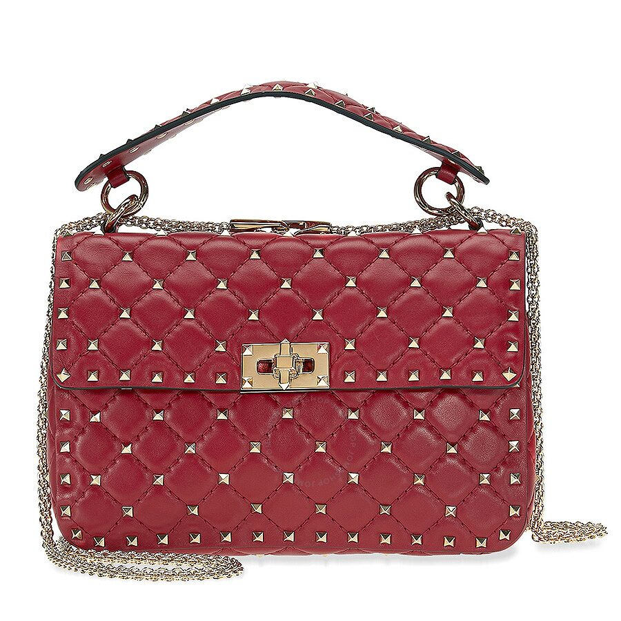 Leather bag with micro studs Red Valentino oblb9ztXP