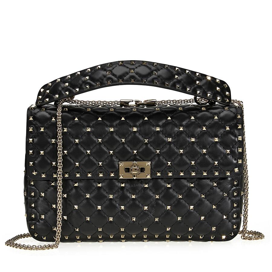 1c661374f4bf rockstud-spike-leather-large-shoulder-bag---black by