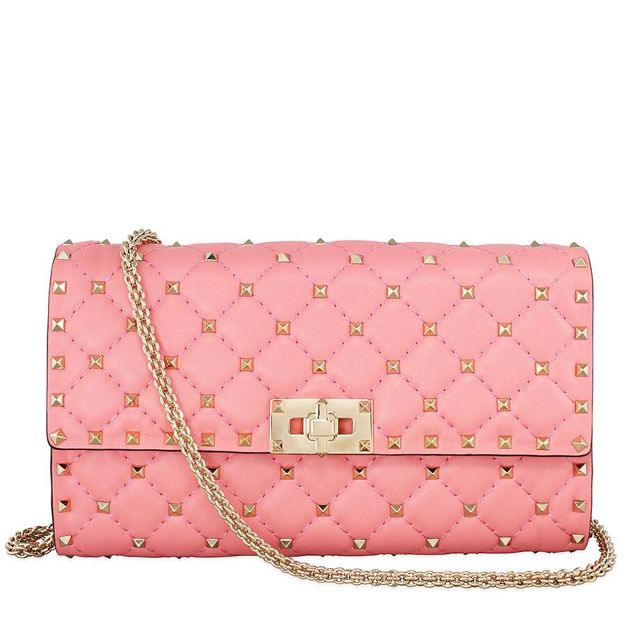 Rockstud Spike shoulder bag - Pink & Purple Valentino RFP5YD