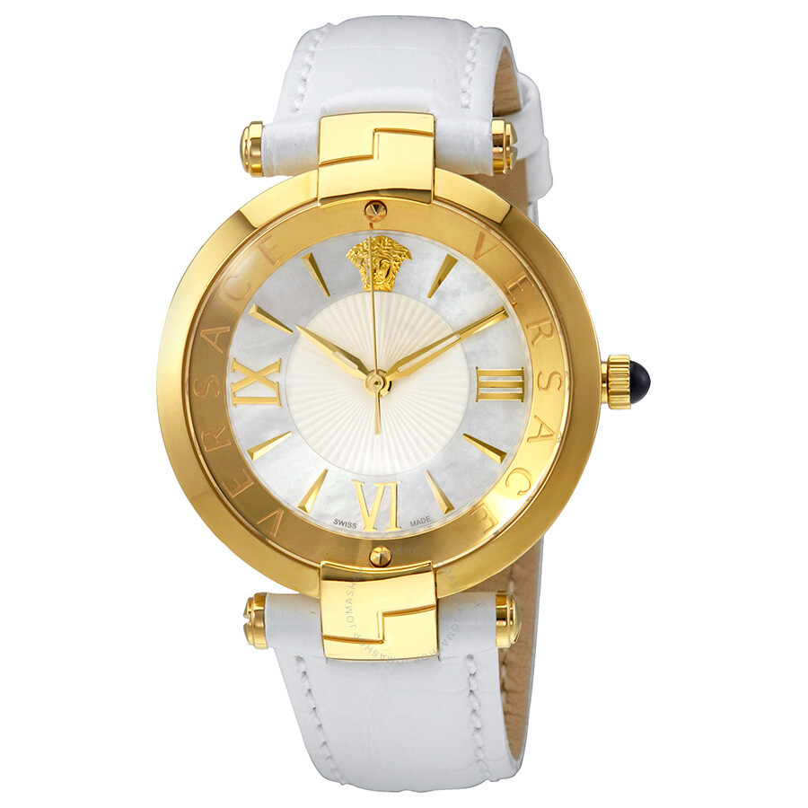 Versace Reve Mother of Pearl Dial Ladies Leather Watch VAI03 0016