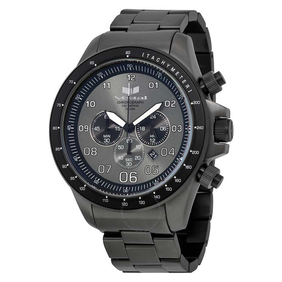 Vestal ZR3 Chronograph Gunmetal Dial Gunmetal-plated Mens Watch ZR3017
