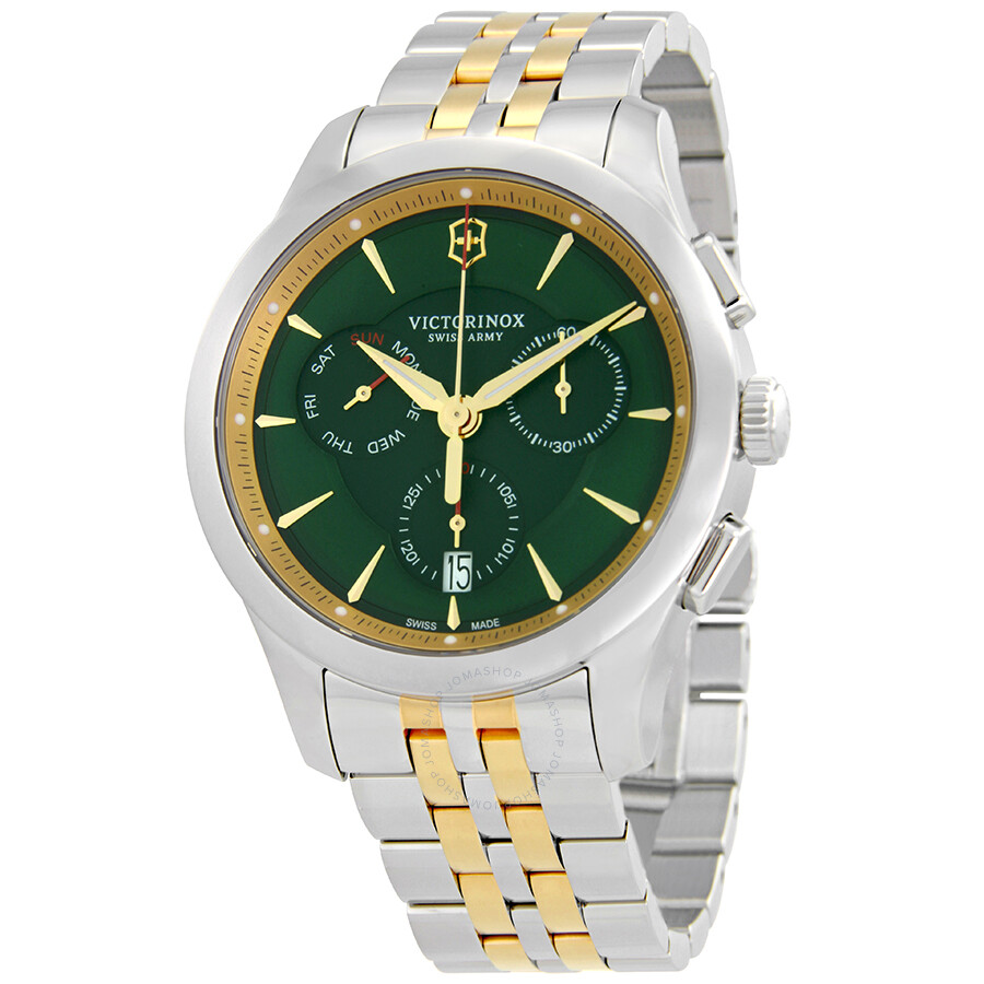Victorinox Alliance Chronograph Green Dial Mens Watch 249117