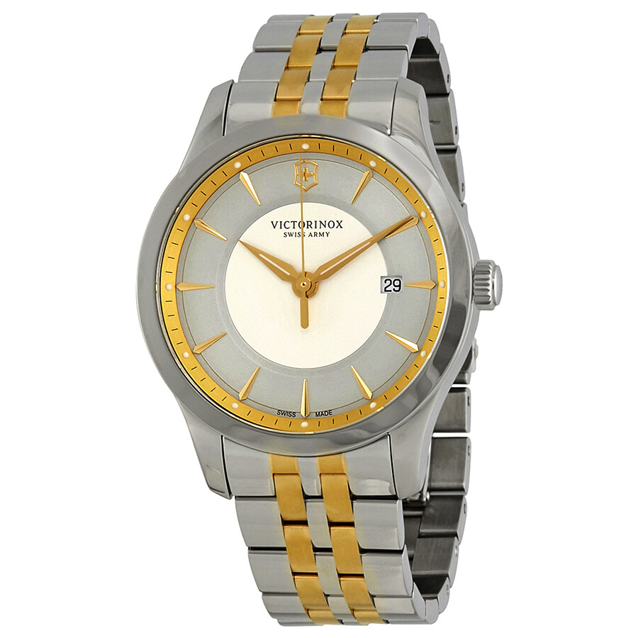 Victorinox Alliance Silver Dial Stainless Steel Mens Watch 241803