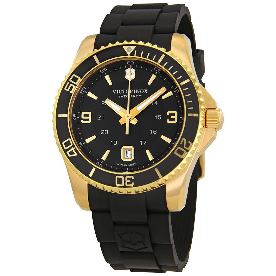 Victorinox Maverick Large Black Dial Mens Watch 249101