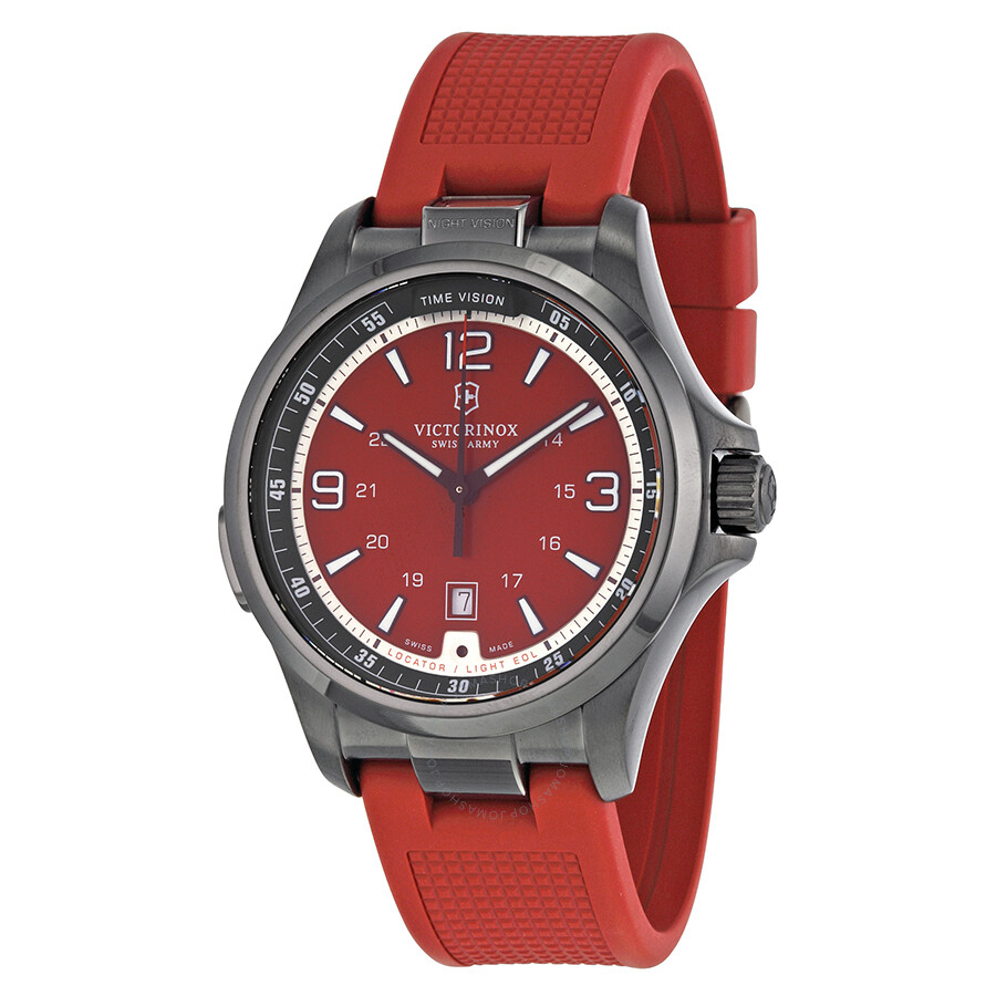 steel rubber with red en tommy stainless strap watches hilfiger watch and