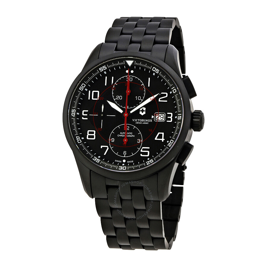 army victor men black rubber watch swiss s watches dial victorinox inox