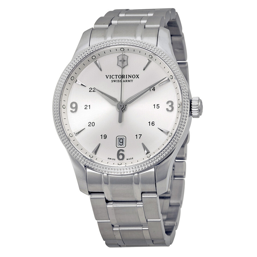Victorinox Swiss Army Alliance Silver Dial Stainless Steel Watch 241712