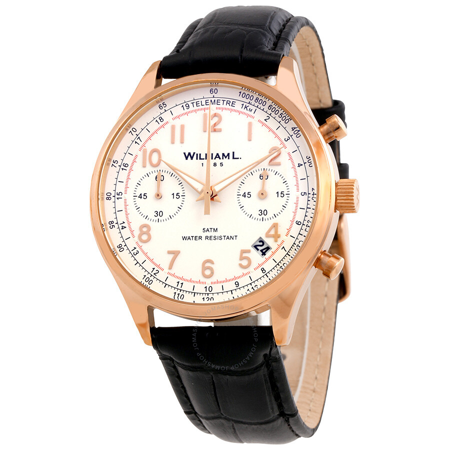 William L1985 Vintage Dial Mens Chronograph Watch WLOR01BCORCN