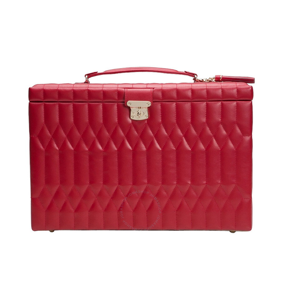 Wolf Caroline Extra Large Red Jewelry Case 329572