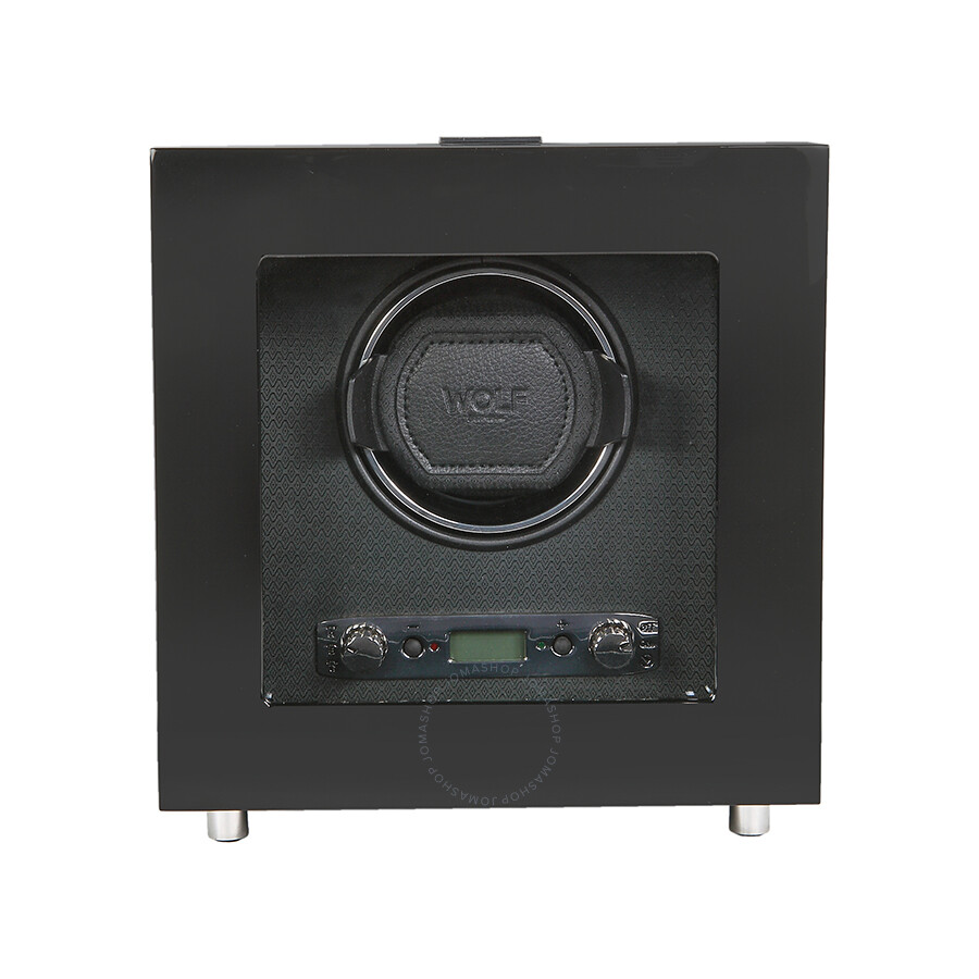 wolf savoy collection black single watch winder 454470 watch