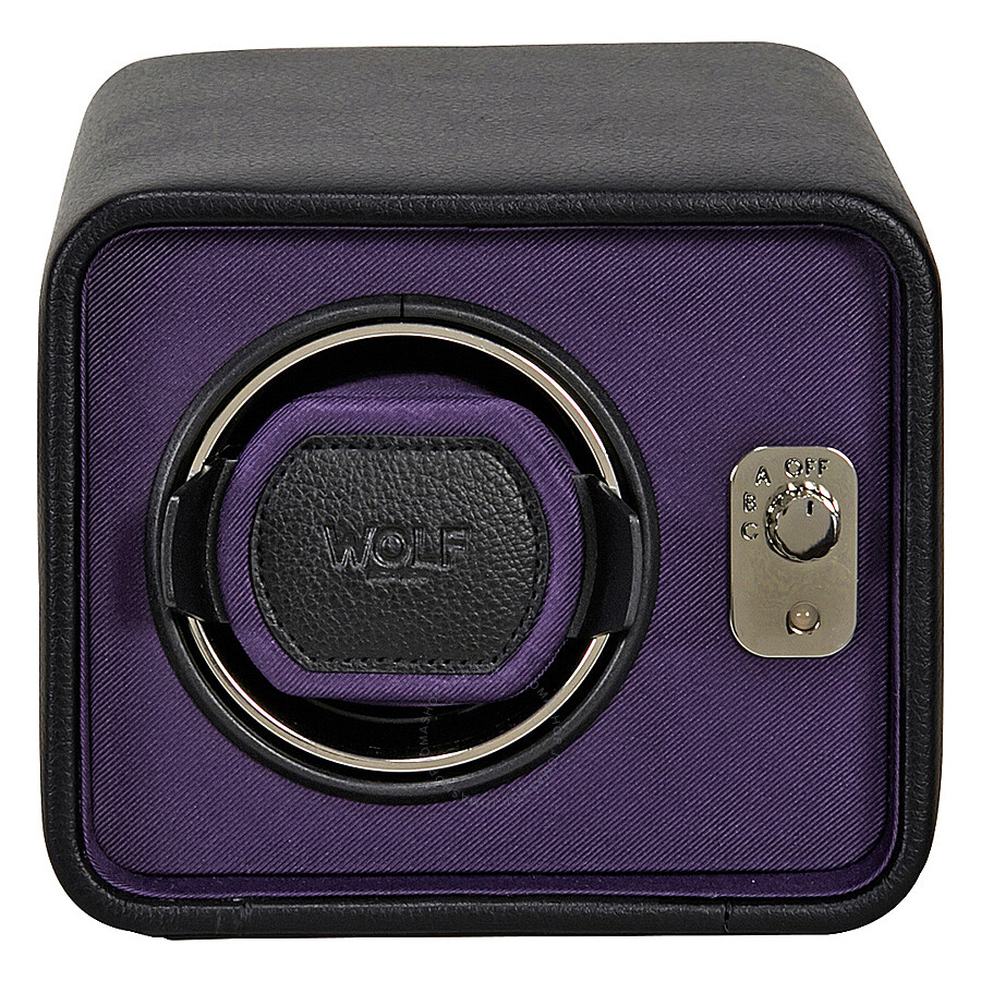 wolf windsor purple black single watch winder 452403 watch winders
