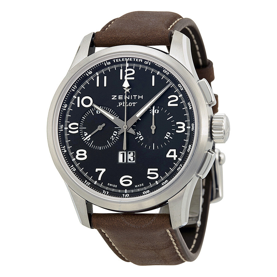 Zenith big pilot automatic chronograph men 39 s watch pilot zenith watches for Zenith watches