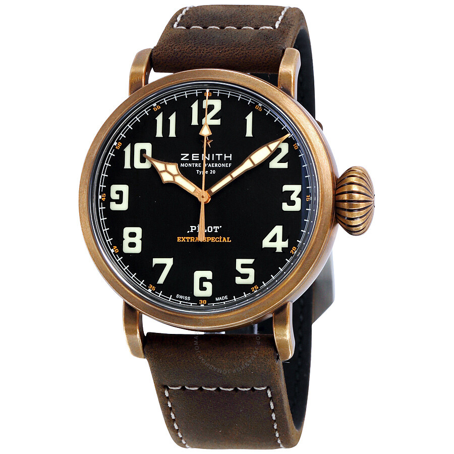 zenith pilot montre d 39 aeronef type 20 automatic men 39 s watch pilot zenith. Black Bedroom Furniture Sets. Home Design Ideas